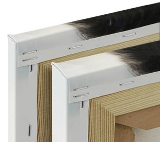 canvas 2 or 4 cm stretcher frame