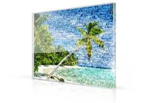 photo mosaic acrylic glass beach small
