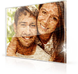 photo mosaic acrylic glass pair