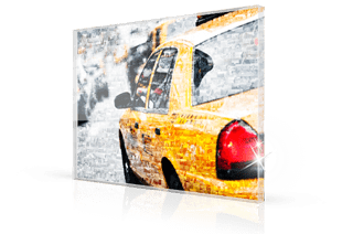 Photo mosaic acrylic glass taxi small