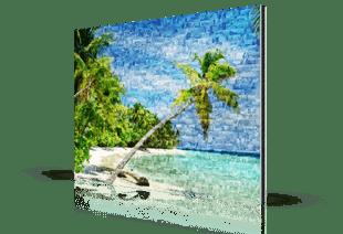 photo mosaic alu-dibond beach small