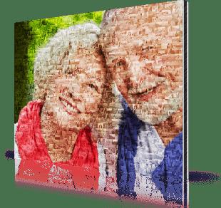 photo mosaic alu-dibond seniors