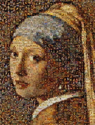 What is a photo mosaic?   History of the Photographic Mosaic