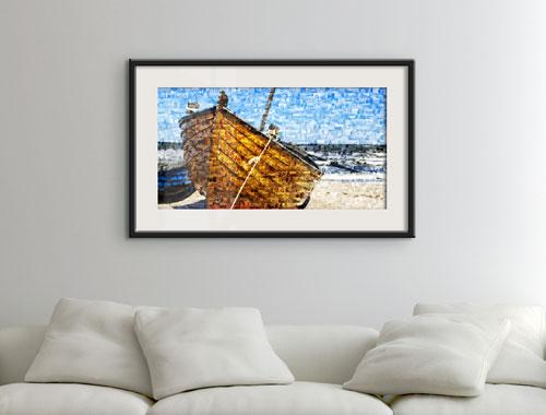 Photo mosaic as poster