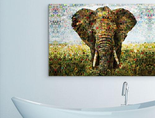 photo mosaic on alu-dibond