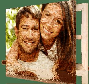 photo mosaic on canvas pair