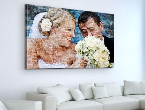 photo mosaic on canvas