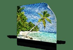 photo mosaic poster beach small