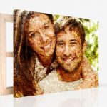 photo on canvas with mosaic