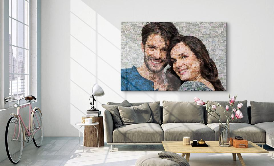 create a photo mosaic room