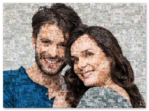 create a photo mosaic top