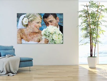 mosaic-photo-of-a-bridal-pair-in-a-living-room