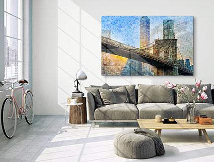 mosaic photo print perspex