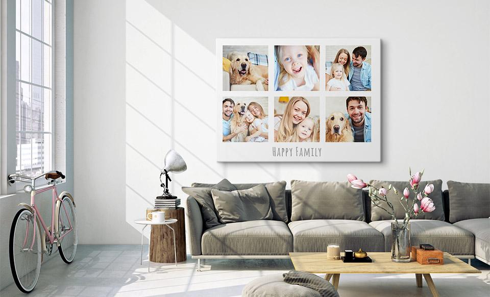 photo collage room