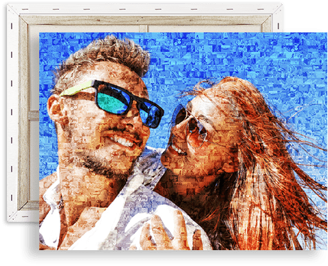 photo mosaic canvas top
