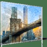 photo mosaic print acrylic